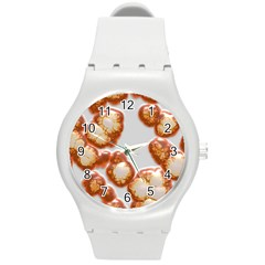 Abstract Texture A Completely Seamless Tile Able Background Design Round Plastic Sport Watch (M)