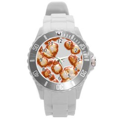 Abstract Texture A Completely Seamless Tile Able Background Design Round Plastic Sport Watch (l)