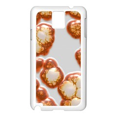 Abstract Texture A Completely Seamless Tile Able Background Design Samsung Galaxy Note 3 N9005 Case (White)