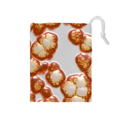 Abstract Texture A Completely Seamless Tile Able Background Design Drawstring Pouches (Medium)