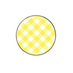Plaid Chevron Yellow White Wave Hat Clip Ball Marker (4 pack)