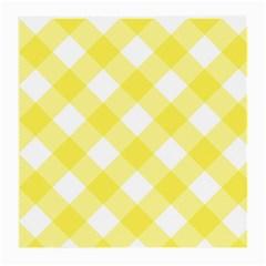Plaid Chevron Yellow White Wave Medium Glasses Cloth (2-Side)