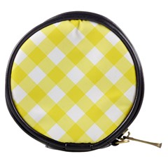 Plaid Chevron Yellow White Wave Mini Makeup Bags
