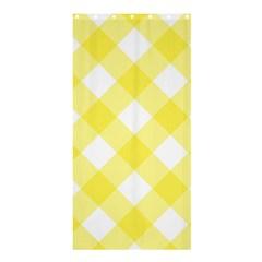 Plaid Chevron Yellow White Wave Shower Curtain 36  x 72  (Stall)