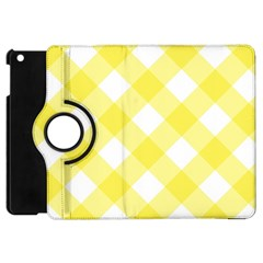 Plaid Chevron Yellow White Wave Apple iPad Mini Flip 360 Case