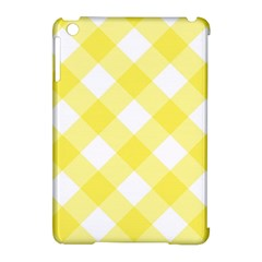 Plaid Chevron Yellow White Wave Apple iPad Mini Hardshell Case (Compatible with Smart Cover)