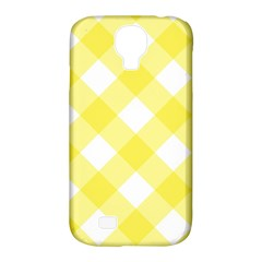 Plaid Chevron Yellow White Wave Samsung Galaxy S4 Classic Hardshell Case (PC+Silicone)