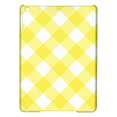 Plaid Chevron Yellow White Wave iPad Air Hardshell Cases