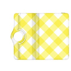 Plaid Chevron Yellow White Wave Kindle Fire HDX 8.9  Flip 360 Case