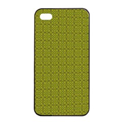 Royal Green Vintage Seamless Flower Floral Apple iPhone 4/4s Seamless Case (Black)