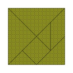 Royal Green Vintage Seamless Flower Floral Acrylic Tangram Puzzle (6  x 6 )