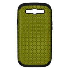 Royal Green Vintage Seamless Flower Floral Samsung Galaxy S III Hardshell Case (PC+Silicone)