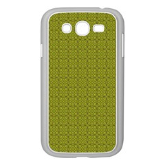 Royal Green Vintage Seamless Flower Floral Samsung Galaxy Grand DUOS I9082 Case (White)
