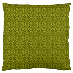 Royal Green Vintage Seamless Flower Floral Large Flano Cushion Case (One Side)