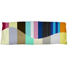 Rainbow Color Line Vertical Rose Bubble Note Carrot Body Pillow Case Dakimakura (Two Sides)