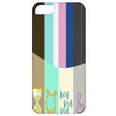 Rainbow Color Line Vertical Rose Bubble Note Carrot Apple iPhone 5 Classic Hardshell Case