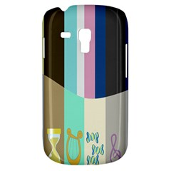 Rainbow Color Line Vertical Rose Bubble Note Carrot Galaxy S3 Mini