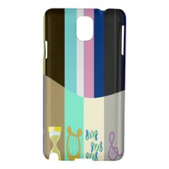 Rainbow Color Line Vertical Rose Bubble Note Carrot Samsung Galaxy Note 3 N9005 Hardshell Case