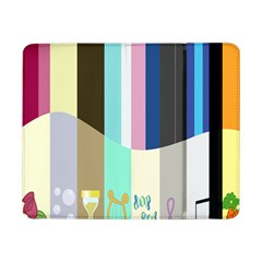 Rainbow Color Line Vertical Rose Bubble Note Carrot Samsung Galaxy Tab Pro 8 4  Flip Case
