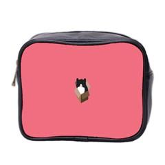 Minimalism Cat Pink Animals Mini Toiletries Bag 2-Side