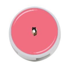 Minimalism Cat Pink Animals 4-Port USB Hub (Two Sides)