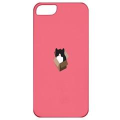 Minimalism Cat Pink Animals Apple iPhone 5 Classic Hardshell Case