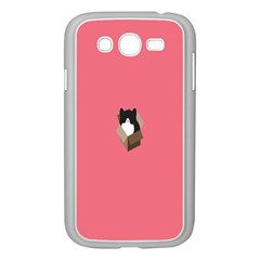 Minimalism Cat Pink Animals Samsung Galaxy Grand DUOS I9082 Case (White)