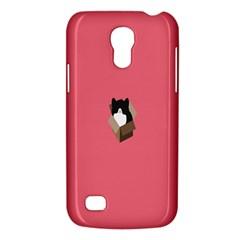 Minimalism Cat Pink Animals Galaxy S4 Mini