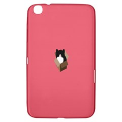 Minimalism Cat Pink Animals Samsung Galaxy Tab 3 (8 ) T3100 Hardshell Case