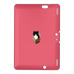 Minimalism Cat Pink Animals Kindle Fire HDX 8.9  Hardshell Case