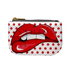 Sexy Lips Red Polka Dot Mini Coin Purses