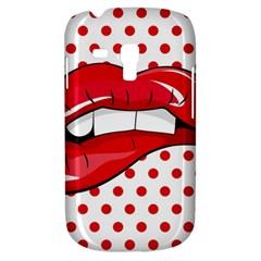 Sexy Lips Red Polka Dot Galaxy S3 Mini