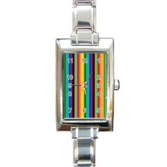 Multi Colored Colorful Bright Stripes Wallpaper Pattern Background Rectangle Italian Charm Watch