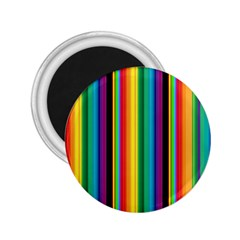 Multi Colored Colorful Bright Stripes Wallpaper Pattern Background 2 25  Magnets