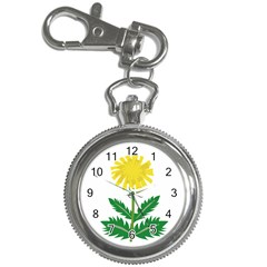 Sunflower Floral Flower Yellow Green Key Chain Watches