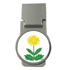 Sunflower Floral Flower Yellow Green Money Clips (round)
