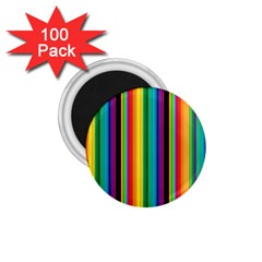 Multi Colored Colorful Bright Stripes Wallpaper Pattern Background 1.75  Magnets (100 pack)
