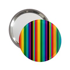 Multi Colored Colorful Bright Stripes Wallpaper Pattern Background 2 25  Handbag Mirrors