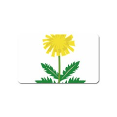 Sunflower Floral Flower Yellow Green Magnet (Name Card)