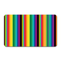 Multi Colored Colorful Bright Stripes Wallpaper Pattern Background Magnet (Rectangular)