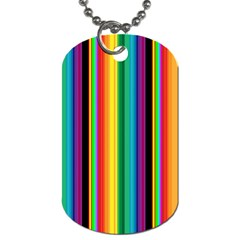 Multi Colored Colorful Bright Stripes Wallpaper Pattern Background Dog Tag (one Side)