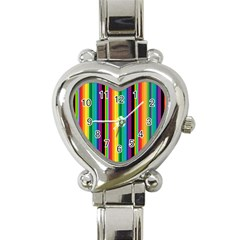 Multi Colored Colorful Bright Stripes Wallpaper Pattern Background Heart Italian Charm Watch