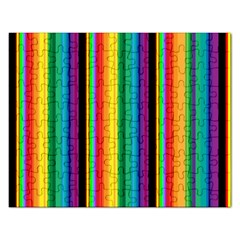 Multi Colored Colorful Bright Stripes Wallpaper Pattern Background Rectangular Jigsaw Puzzl