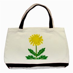 Sunflower Floral Flower Yellow Green Basic Tote Bag
