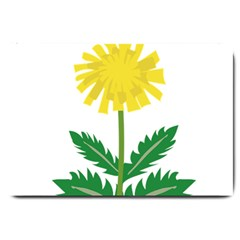 Sunflower Floral Flower Yellow Green Large Doormat