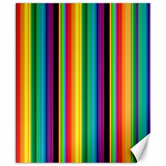 Multi Colored Colorful Bright Stripes Wallpaper Pattern Background Canvas 8  x 10