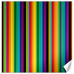 Multi Colored Colorful Bright Stripes Wallpaper Pattern Background Canvas 20  x 20