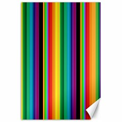 Multi Colored Colorful Bright Stripes Wallpaper Pattern Background Canvas 20  x 30
