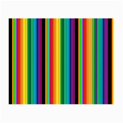 Multi Colored Colorful Bright Stripes Wallpaper Pattern Background Small Glasses Cloth (2-Side)