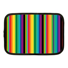 Multi Colored Colorful Bright Stripes Wallpaper Pattern Background Netbook Case (medium)